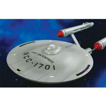 STAR TREK TOS USS ENTERPRISE SMOOTH SAUCER 1:350 SCALE MODEL KIT BY AMT